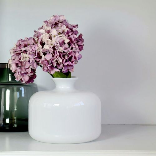 Single Stem Vase Milky 25cm